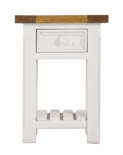 Tuscan Side Table with Slatted Shelf