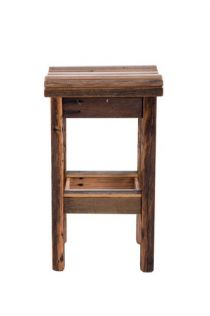 Wood Design Bar Stool with Curved Seat and Grey/Clear Finish   Wood Design Bar Stool with Curved Sea