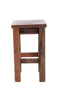 Wood Design Bar Stool with Grey/Clear Indoor Finish