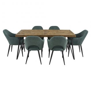Oslo 1800 Dining Package with Crawford Dining Chairs Forest