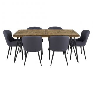 Oslo 1800 Dining Package with Milton Dining Chairs Grey