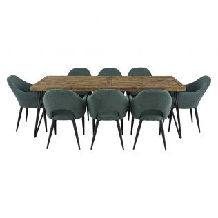Oslo 2200 Dining Package with Crawford Dining Chairs Forest