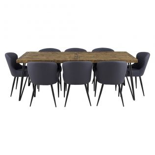 Oslo 2200 Dining Package with Milton Dining Chairs Grey