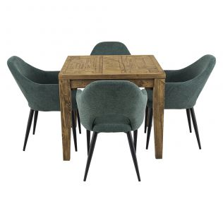 Oslo 900 Patchwork Dining Package with Crawford Dining Chairs Forest