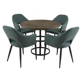 Newcastle 1000 Round Dining Package with Crawford Dining Chairs Forest