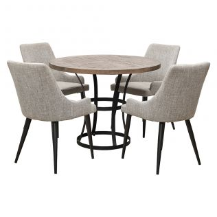 Newcastle 1000 Dining Package with Nomad Dining Chairs Salt & Pepper