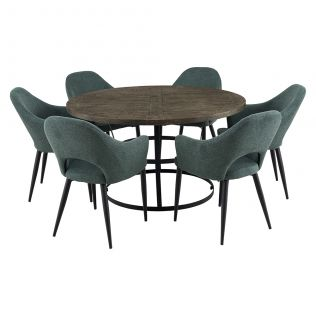 Newcastle 1400 Round Dining Package with Crawford Dining Chairs Forest