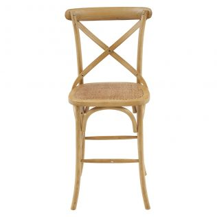 French Cross Breakfast Stool Natural