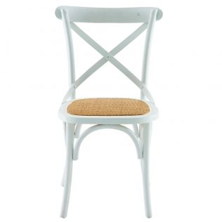 French Cross Dining Chair White