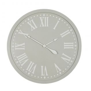 Constance MDF Clock Taupe/White
