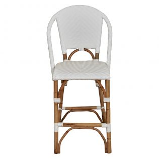 Paris Breakfast Stool with Back White