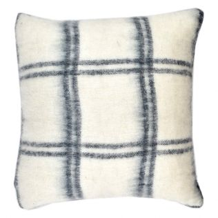 Darby Wool Blend Cushion Ivory/Navy