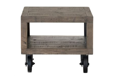 Ultimo Side Table with Wheels