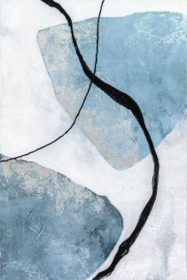 Blue Abstract Oil Painting A