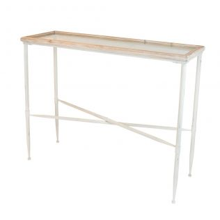 Blight Timber and Iron Console Table