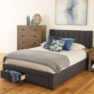 Bianca Queen Bed Frame with Storage Drawers