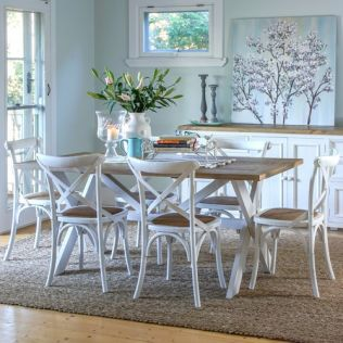 Byron 1800 Dining Package with French Cross Chairs