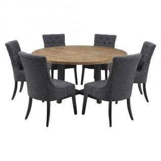 New Oxford 1600 Dining Package with Gallery Chairs Charcoal