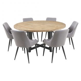 New Oxford 1600 Dining Package with Nomad Chairs Grey