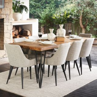 Oslo 2200 Dining Package with Nomad Salt & Pepper Chairs