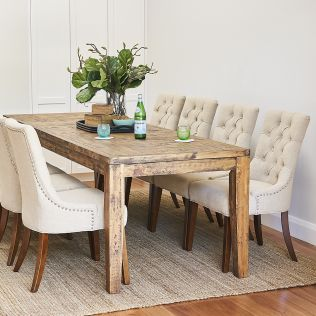 Oslo 2500 Dining Table with Patchwork Top