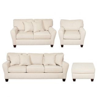 Dynasty 3 and 2 Seater Sofas, Armchair, and Ottoman Package
