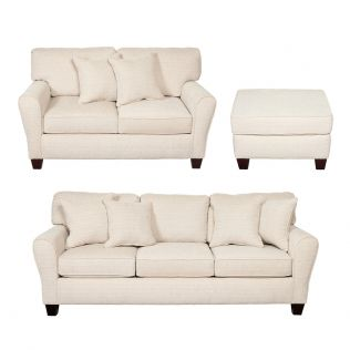 Dynasty 3 and 2 Seater Sofas and Ottoman Package
