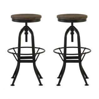 Ultimo Stool with Adjustable Seat - Set of 2
