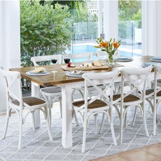 Tuscan 1800/2300 Large Extension Package with French Cross Chairs