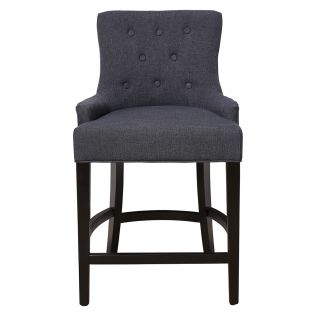 Gallery Breakfast Stool Charcoal with Black Legs