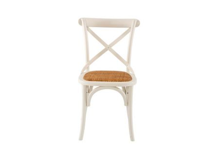 French Cross Dining Chair Antique White
