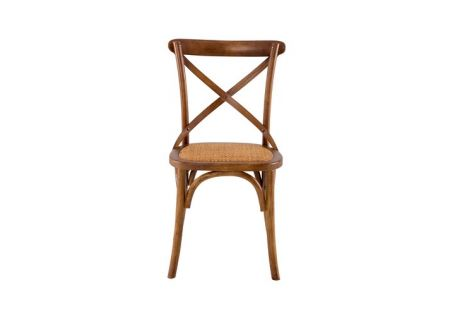 French Cross Dining Chair with Oak Stain