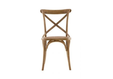 French Cross Dining Chair with Natural Stain