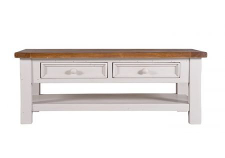 Tuscan 2 drawer coffee table display | Tuscan 2 drawer coffee table design | Tuscan 2 drawer coffee table side view | Tuscan 2 drawer coffee table livingroom display