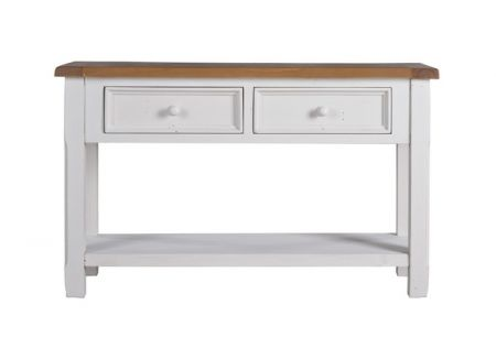 Tuscan 2 Drawer Sofa Table | Tuscan Sofa Table with 2 Drawers | Tuscan 2 Drawer Sofa Table Side View | Tuscan 2 Drawer Sofa Table for Lonely Corner