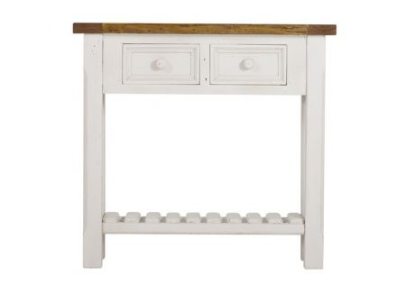 Tuscan Console Table with Slatted Shelf