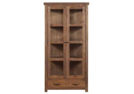 Vintage Display Cabinet | Sturdy Vintage Display Cabinet | Rustic Vintage Display Cabinet | Vintage Display Cabinet Side View | Vintage Display Cabinet For Living Area