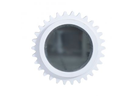 Pinto Mirror Distressed White - ONLINE ONLY
