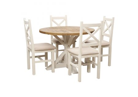 Byron 1100 Dining Package with Byron Dining Chairs (Cushioned Seats Latte)