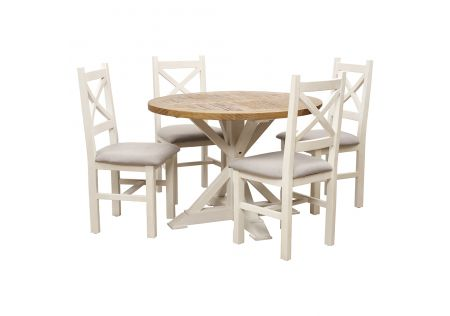 Byron 1100 Dining Package with Byron Dining Chairs (Cushioned Seats Mineral)