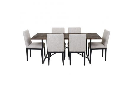 Soro 2000 Dining Table & 6x Kingston Dining Chairs in Beige