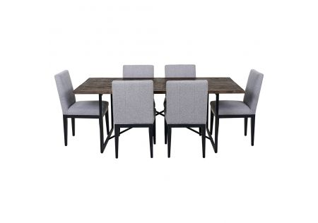Soro 2000 Dining Table & 6x Kingston Dining Chairs in Grey