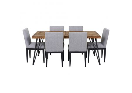 Oslo 1800 Dining Table & 6x Kingston Dining Chairs in Grey
