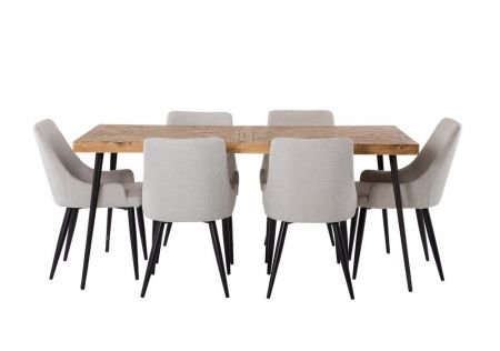 Oslo 1800 Dining Package with Nomad Beige Chairs
