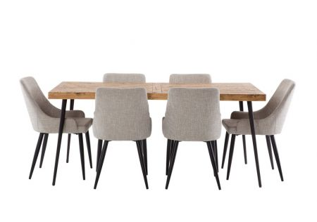 Oslo 1800 Dining Package with Nomad Salt & Pepper Chairs