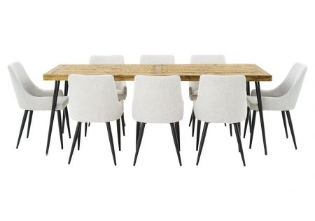 Oslo 2200 Dining Package with Nomad Beige Chairs