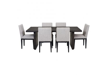 Portland 2000 Dining Table & 6x Kingston Dining Chairs in Beige