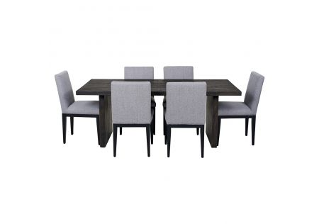 Portland 2000 Dining Table & 6x Kingston Dining Chairs in Grey
