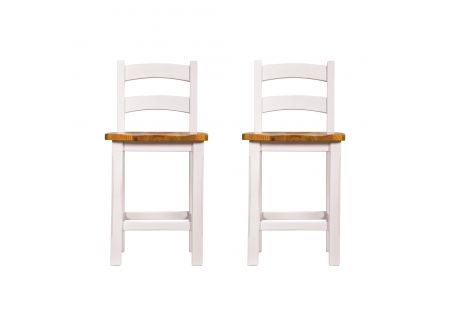 Tuscan Breakfast Stool with Back - Set of 2