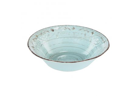 Rustic Fare Serving Bowl Aqua